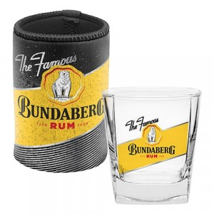 BUNDABERG RUM SPIRIT GLASS & CAN COOLER