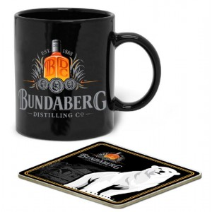 BUNDABERG RUM 300ML MUG & COASTER GIFT PACK