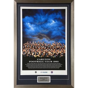 CARLTON BLUES 1995 FRAMED MATTED POSTER