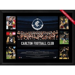 CARLTON 2016 TEAM FRAMED PREMIERGRAPH