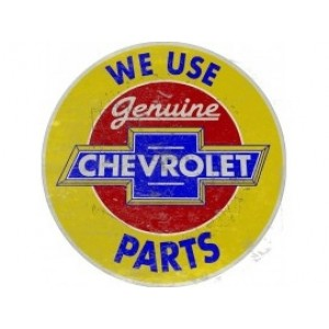 CHEVROLET GENUINE PARTS TIN SIGN