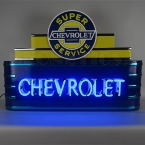 CHEVROLET ART DECO NEON SIGN