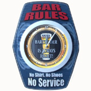 BAR RULES CLOCK
