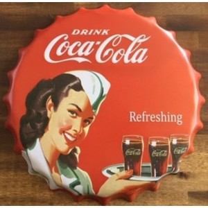 COKE LADY BOTTLE CAP