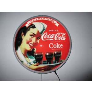 COKE LADY LED WALL LIGHT