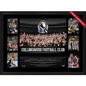 COLLINGWOOD 2016 TEAM PREMIERGRAPH FRAMED