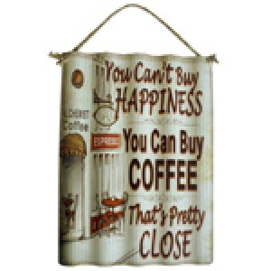 COFFEE CORRUGATED TIN SIGN