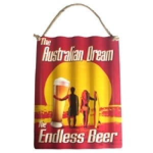 ENDLESS BEER CORRUGATED TIN SIGN