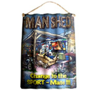 MAN SHED CORRUGATED TIN SIGN