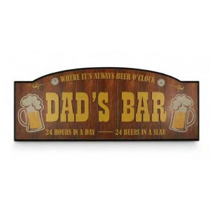 DAD'S BAR TIMBER SIGN