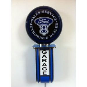 FORD V8 ILLUMINATED WALL MOUNTED GARAGE SIGN