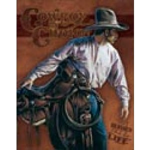COWBOY BY CHOICE TIN SIGN