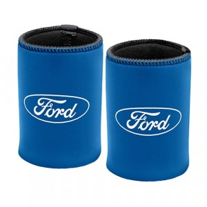 FORD BLUE OVAL CAN COOLER
