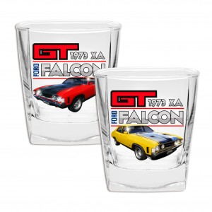 FORD FALCON GT XA SET OF 2 SPIRIT GLASSES