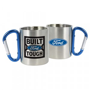 FORD BUILT TOUGH STAINLESS STEEL MUG