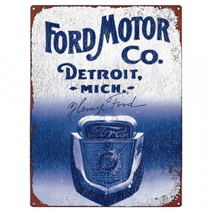 FORD MOTOR CO TIN SIGN