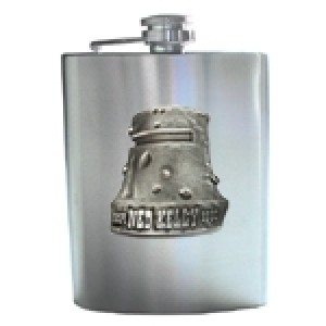 NED KELLY HELMET BADGE HIP FLASK