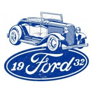 FORD 1932 ROADSTER TIN METAL SIGN