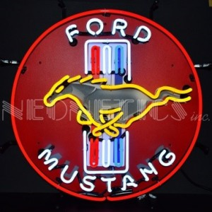 FORD MUSTANG NEON SIGN (60CM ROUND)