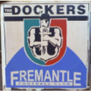 AFL FREMANTLE DOCKERS RUSTIC STEEL SIGN