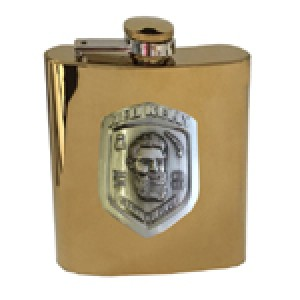 NED KELLY PREMIUM BADGE GOLD FLASK