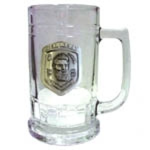 NED KELLY BADGED BEER GLASS