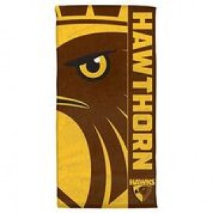 AFL HAWTHORN BEACH TOWEL
