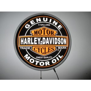 HARLEY MOTOR OIL LED WALL LIGHT