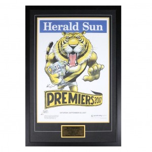 RICHMOND 2017 PREMIERS HERALD SUN FRAMED POSTER