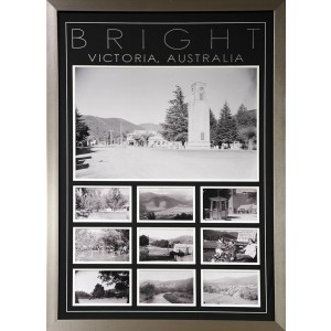 HISTORIC TOWN FRAMED PICTURES BRIGHT