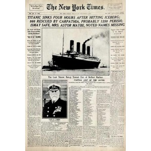 THE TITANIC SINKS FRAMED POSTER