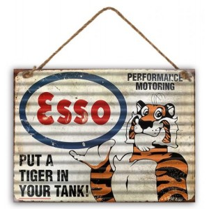 ESSO TIGER IN THE TANK TIN SIGN