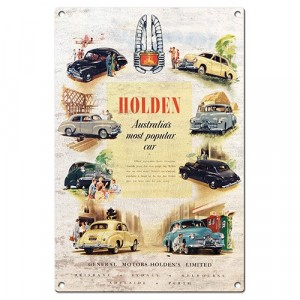 HOLDEN HERITAGE TIN SIGN