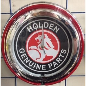 HOLDEN GENUINE PARTS DOUBLE NEON CLOCK