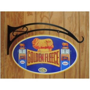 GOLDEN FLEECE DOUBLE SIDED SWING SIGN