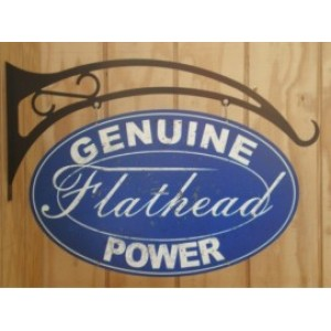 FLATHEAD DOUBLE SIDED SWING SIGN