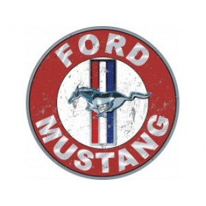 FORD MUSTANG LARGE STEEL SIGN