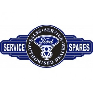 FORD V8 SERVICE STATION SIGN