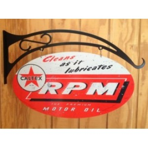 CALTEX RPM DOUBLE SIDED SWING SIGN