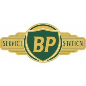 BP SERVICE STATION SIGN