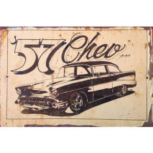 '57 CHEV STEEL SIGN