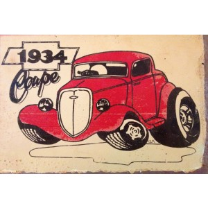 1934 COUPE STEEL SIGN