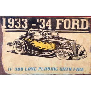 1933 - '34 FORD STEEL SIGN