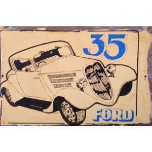 '35 FORD STEEL SIGN
