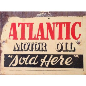 ATLANTIC MOTOR OIL STEEL SIGN