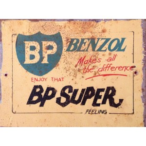 BP SUPER STEEL SIGN