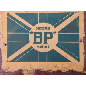 BP MOTOR SPIRIT STEEL SIGN