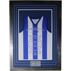 NORTH MELBOURNE TEAM OF THE CENTURY GUERNSEY FRAMED