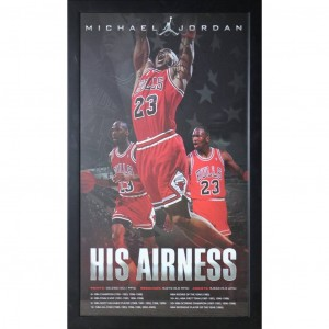 MICHAEL JORDAN - HIS AIRNESS POSTER FRAMED