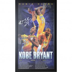KOBE BRYANT - MAGIC MAMBA POSTER FRAMED